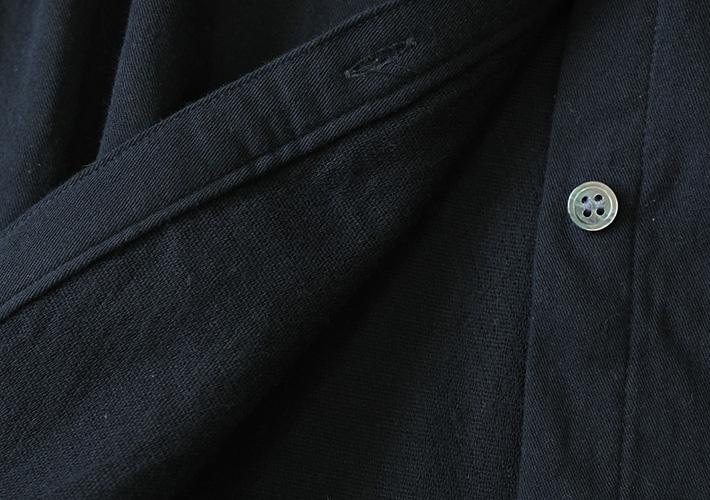 ロルカ シャツ コットン ウール ロングシャツ 森の8カテン