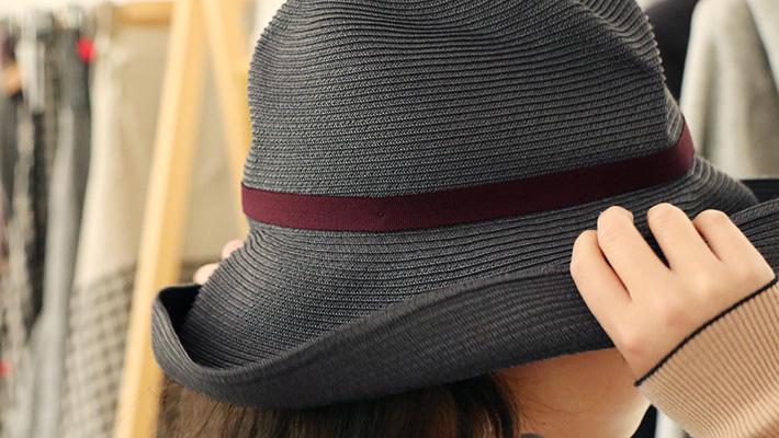 mature ha. マチュアーハ BOXED HAT 11cm brim